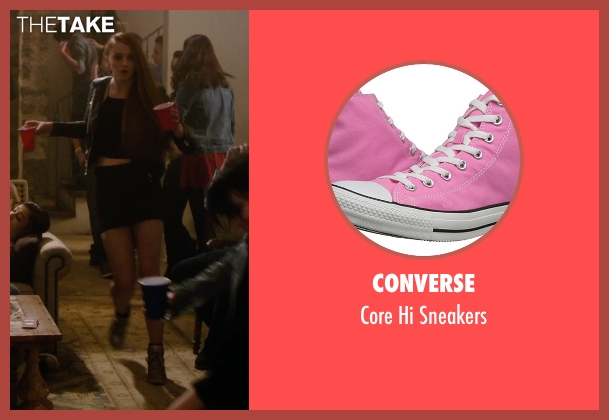 Converse pink sneakers from Barely Lethal seen with Sophie Turner (Heather)