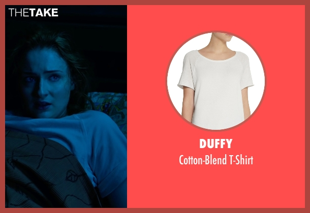 Duffy white t-shirt from X-Men: Apocalypse seen with Sophie Turner (Jean Grey)