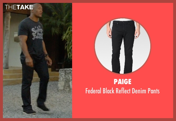 Paige black pants from Ballers seen with Spencer Strasmore (Dwayne Johnson)