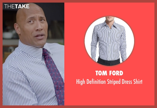Tom Ford white shirt from Ballers seen with Spencer Hastings  (Dwayne Johnson)
