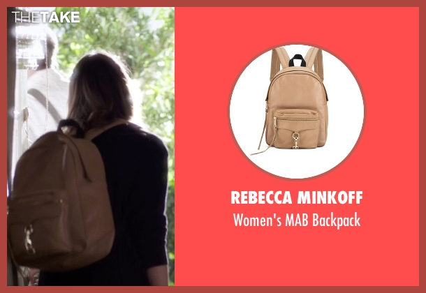 Rebecca Minkoff beige backpack from Pretty Little Liars seen with Spencer Hastings  (Troian Bellisario)