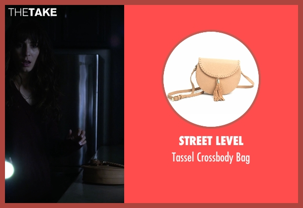 Street Level beige bag from Pretty Little Liars seen with Spencer Hastings  (Troian Bellisario)