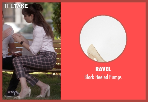 Ravel beige pumps from Pretty Little Liars seen with Spencer Hastings  (Troian Bellisario)