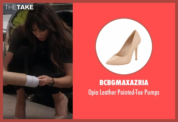 BCBGMAXAZRIA beige pumps from Pretty Little Liars seen with Spencer Hastings  (Troian Bellisario)