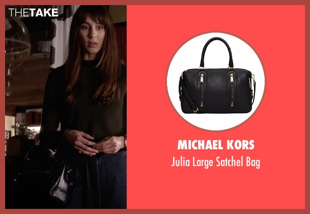 Michael Kors black bag from Pretty Little Liars seen with Spencer Hastings  (Troian Bellisario)