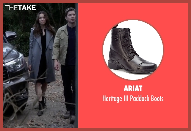 Ariat black boots from Pretty Little Liars seen with Spencer Hastings  (Troian Bellisario)
