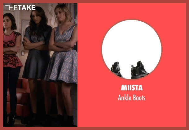 All Saints black boots from Pretty Little Liars seen with Spencer Hastings  (Troian Bellisario)