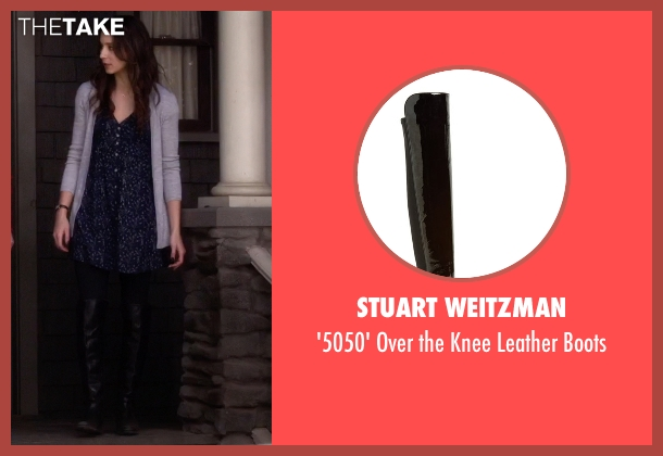 Stuart Weitzman black boots from Pretty Little Liars seen with Spencer Hastings  (Troian Bellisario)
