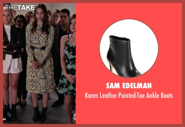 Sam Edelman black boots from Pretty Little Liars seen with Spencer Hastings  (Troian Bellisario)