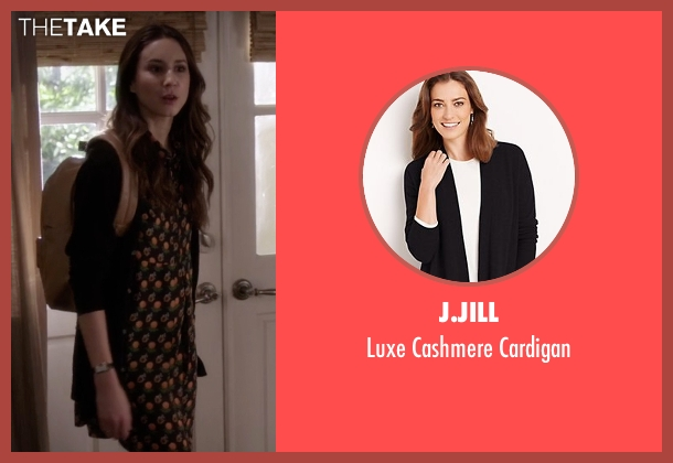 J.Jill black cardigan from Pretty Little Liars seen with Spencer Hastings  (Troian Bellisario)