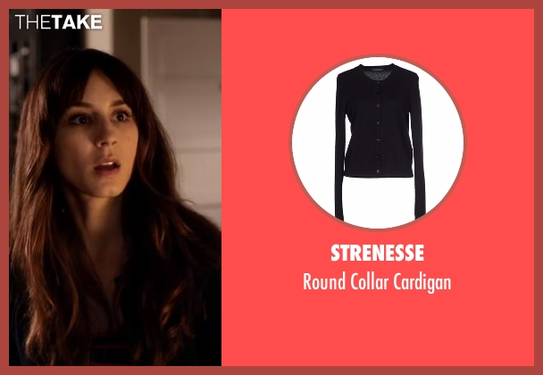 Strenesse black cardigan from Pretty Little Liars seen with Spencer Hastings  (Troian Bellisario)