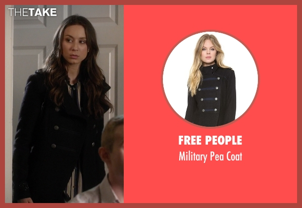 Free People black coat from Pretty Little Liars seen with Spencer Hastings  (Troian Bellisario)