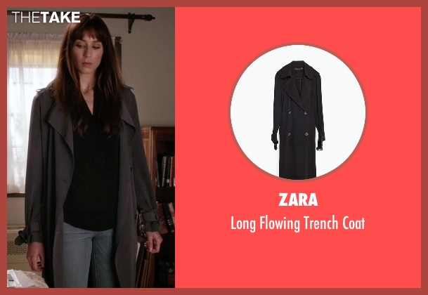 Zara black coat from Pretty Little Liars seen with Spencer Hastings  (Troian Bellisario)