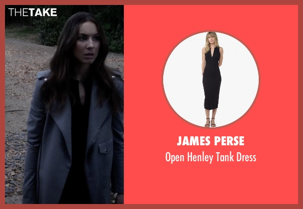 James Perse black dress from Pretty Little Liars seen with Spencer Hastings  (Troian Bellisario)