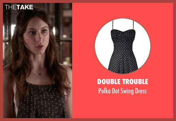 Double Trouble black dress from Pretty Little Liars seen with Spencer Hastings  (Troian Bellisario)