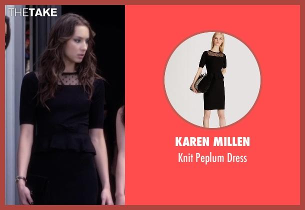Karen Millen black dress from Pretty Little Liars seen with Spencer Hastings  (Troian Bellisario)