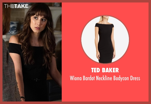 Ted Baker black dress from Pretty Little Liars seen with Spencer Hastings  (Troian Bellisario)