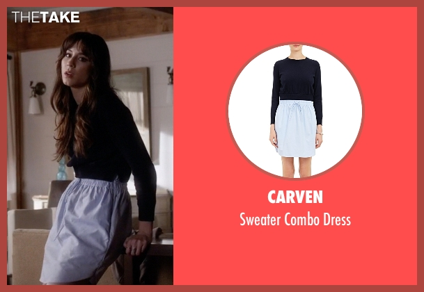 Carven black dress from Pretty Little Liars seen with Spencer Hastings  (Troian Bellisario)