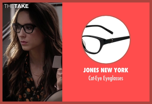 Jones New York black eyeglasses from Pretty Little Liars seen with Spencer Hastings  (Troian Bellisario)