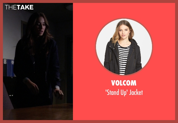 Volcom black jacket from Pretty Little Liars seen with Spencer Hastings  (Troian Bellisario)