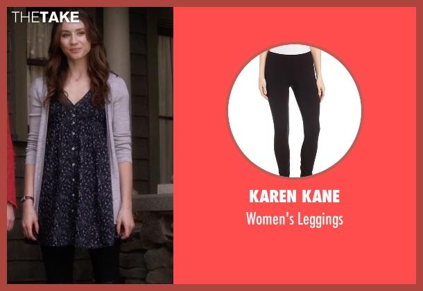Karen Kane black leggings from Pretty Little Liars seen with Spencer Hastings  (Troian Bellisario)