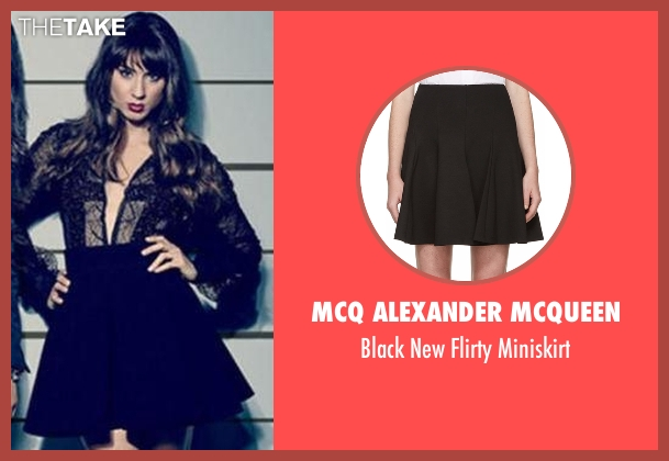 McQ Alexander McQueen black miniskirt from Pretty Little Liars seen with Spencer Hastings  (Troian Bellisario)