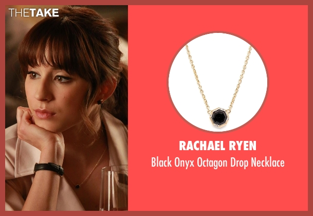 Rachael Ryen black necklace from Pretty Little Liars seen with Spencer Hastings  (Troian Bellisario)