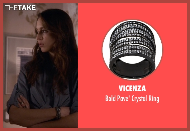 Vicenza black ring from Pretty Little Liars seen with Spencer Hastings  (Troian Bellisario)