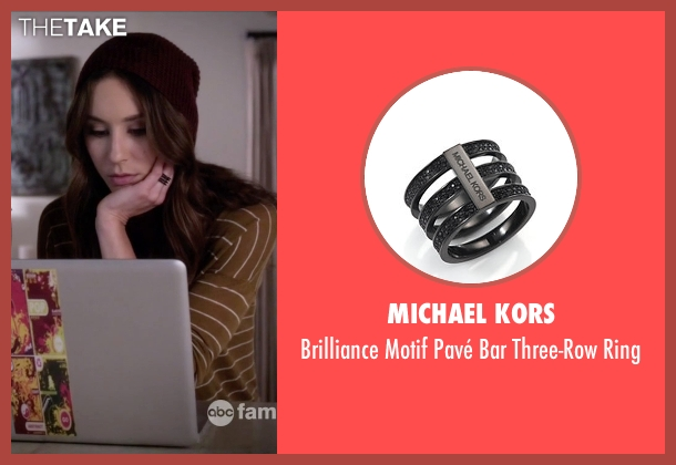 Michael Kors black ring from Pretty Little Liars seen with Spencer Hastings  (Troian Bellisario)