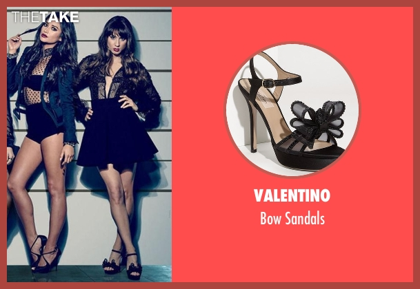 Valentino black sandals from Pretty Little Liars seen with Spencer Hastings  (Troian Bellisario)