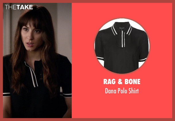 Rag & Bone black shirt from Pretty Little Liars seen with Spencer Hastings  (Troian Bellisario)