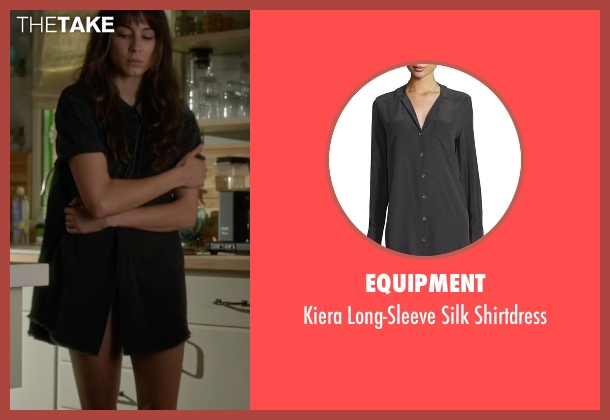 Equipment black shirtdress from Pretty Little Liars seen with Spencer Hastings  (Troian Bellisario)