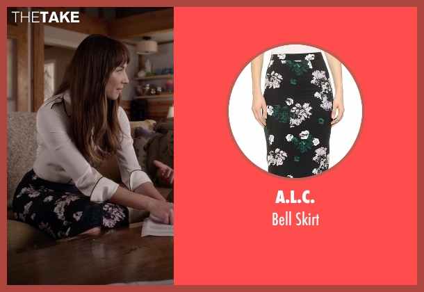 A.L.C. black skirt from Pretty Little Liars seen with Spencer Hastings  (Troian Bellisario)