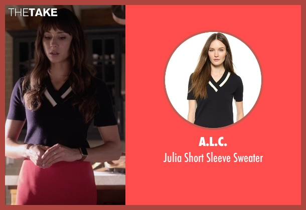 A.L.C. black sweater from Pretty Little Liars seen with Spencer Hastings  (Troian Bellisario)