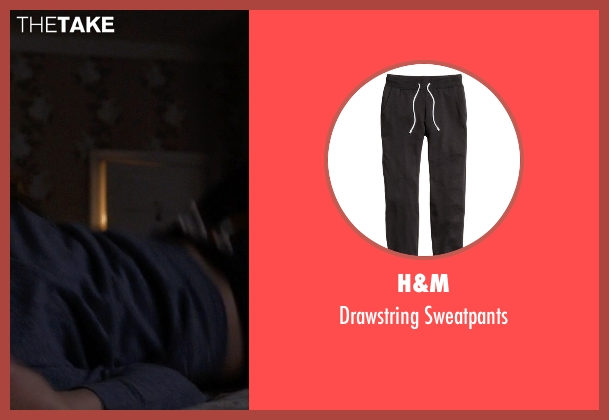 H&M black sweatpants from Pretty Little Liars seen with Spencer Hastings  (Troian Bellisario)
