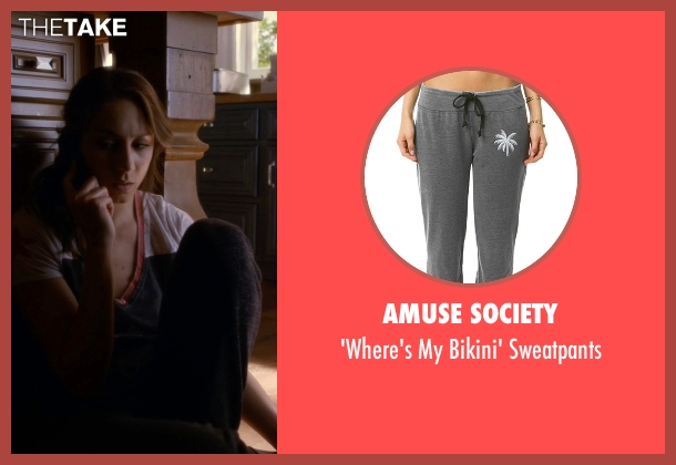 Amuse Society black sweatpants from Pretty Little Liars seen with Spencer Hastings  (Troian Bellisario)