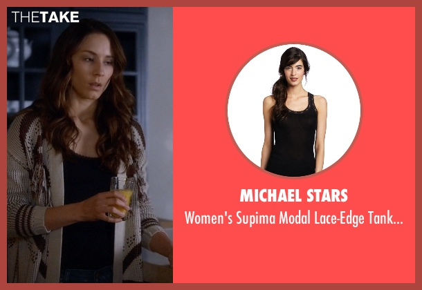 Michael Stars black top from Pretty Little Liars seen with Spencer Hastings  (Troian Bellisario)