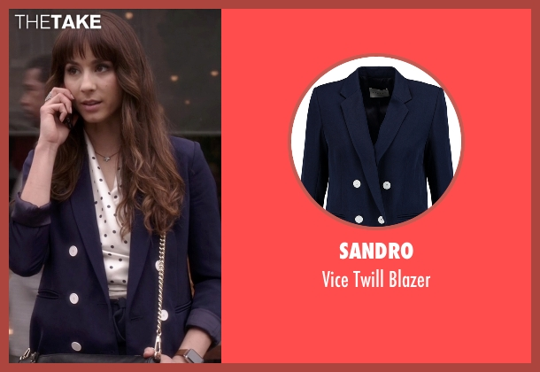 Sandro  blue blazer from Pretty Little Liars seen with Spencer Hastings  (Troian Bellisario)