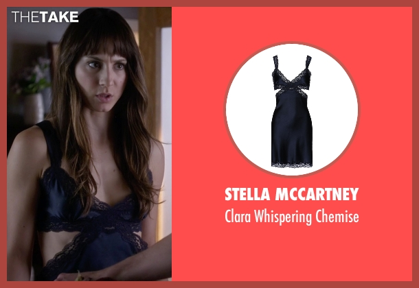 Stella McCartney blue chemise from Pretty Little Liars seen with Spencer Hastings  (Troian Bellisario)
