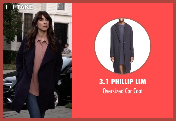 3.1 Phillip Lim blue coat from Pretty Little Liars seen with Spencer Hastings  (Troian Bellisario)