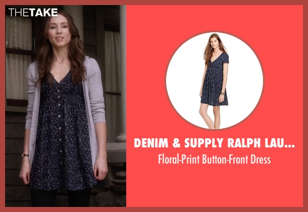 Denim & Supply Ralph Lauren blue dress from Pretty Little Liars seen with Spencer Hastings  (Troian Bellisario)