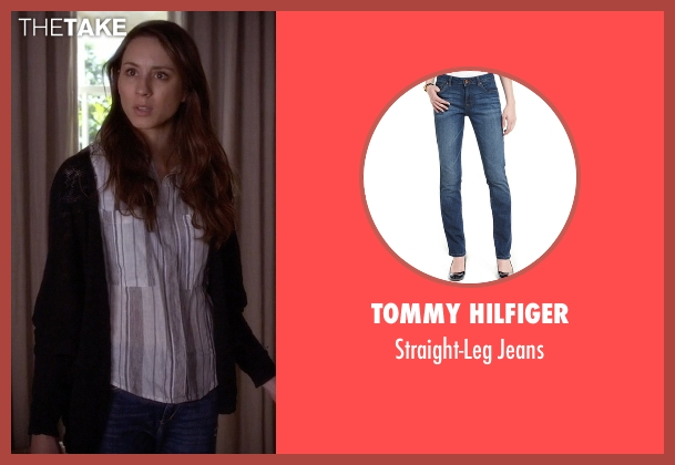 Tommy Hilfiger blue jeans from Pretty Little Liars seen with Spencer Hastings  (Troian Bellisario)