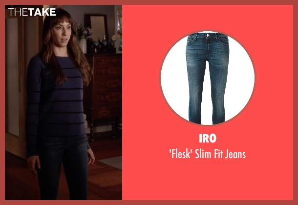 Iro blue jeans from Pretty Little Liars seen with Spencer Hastings  (Troian Bellisario)