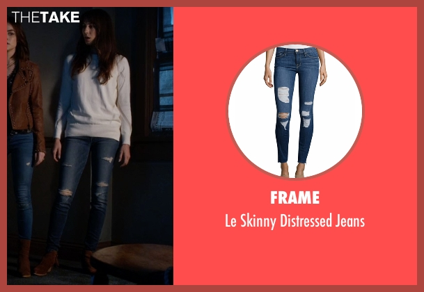 Frame blue jeans from Pretty Little Liars seen with Spencer Hastings  (Troian Bellisario)