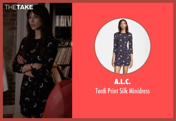A.L.C. blue minidress from Pretty Little Liars seen with Spencer Hastings  (Troian Bellisario)