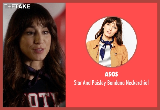 Asos blue neckerchief from Pretty Little Liars seen with Spencer Hastings  (Troian Bellisario)