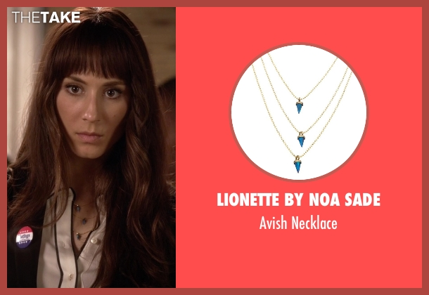 Lionette by Noa Sade blue necklace from Pretty Little Liars seen with Spencer Hastings  (Troian Bellisario)