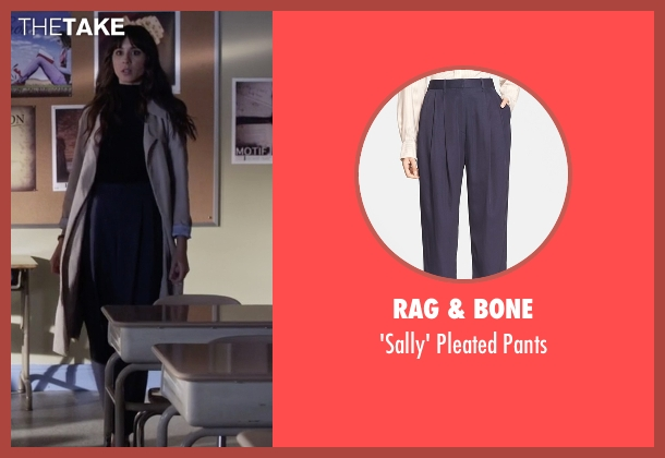 Rag & Bone blue pants from Pretty Little Liars seen with Spencer Hastings  (Troian Bellisario)