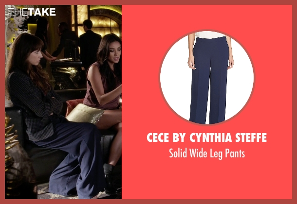 Cece by Cynthia Steffe blue pants from Pretty Little Liars seen with Spencer Hastings  (Troian Bellisario)