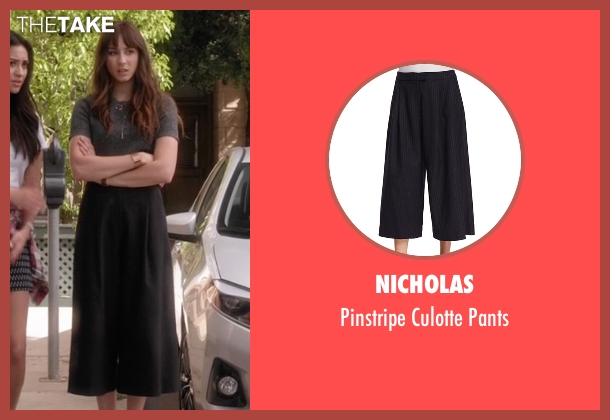 Nicholas blue pants from Pretty Little Liars seen with Spencer Hastings  (Troian Bellisario)